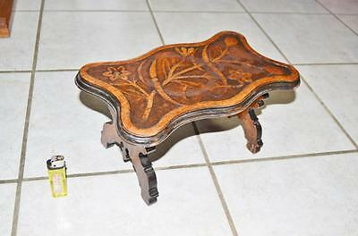 19thc Black forest ANTIQUE Art  noveau Foot stool mint condition from germany