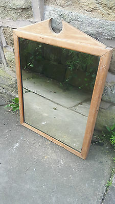 Vintage Antique Rustic Wooden Solid Wood Framed Mirror Wall Hanging