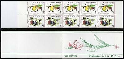NORWAY MNH 1992 Orchids Booklet