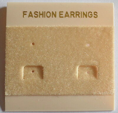 50Pcs Fashion Jewelry Earrings Hanging Holder Display Hang Cards Plastic Cream