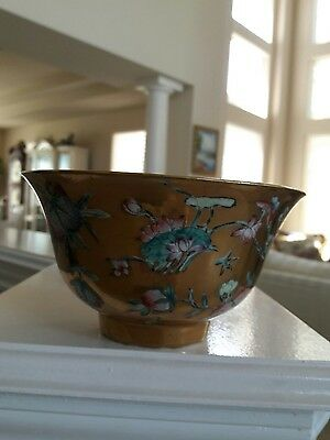 Chinese antique enamel  painting bowl  qinglong Mark
