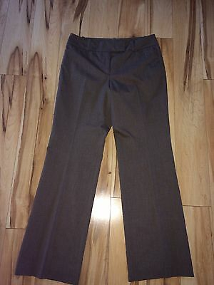 Ann Taylor Signature Fit Dress Career Pants  Brown Sz 8 M Lined