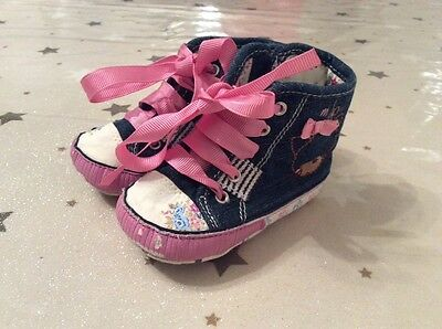 Next baby girl high top shoes size 2 (6-12 months)