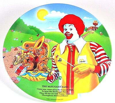 McDonalds Plate The McNugget Band Melamine Plate 9 3/8 inch across Nice!