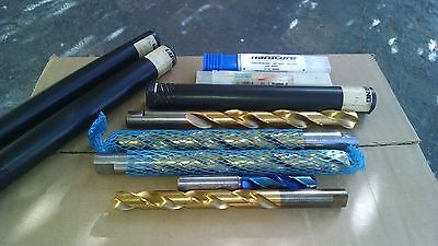 new drills. lot of 5 , .499 carbide,3- 17mm, 13.8mm. stellram,guhring,greenfield