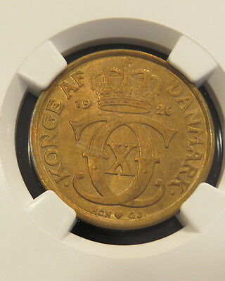 Denmark 1926 1 Krone Ngc Ms64 Extremely Scarce In High Grade