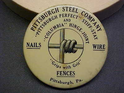 PA Pittsburgh Steel Company Fences Celluloid Advertising Dexterity Puzzle