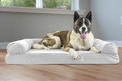 FurHaven Quilted Memory Top Dog Couch Pet Bed