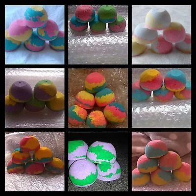 Rainbow Bath Bomb Scented x6 Choose From 9 Different Design's