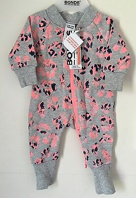 Size 000 Baby Girls Bonds Roomy Wondersuit BNWT Zippy (winter Leopard)