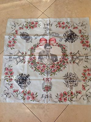 Prince Charles and Princes Dianna Royal Wedding Scarf 1981