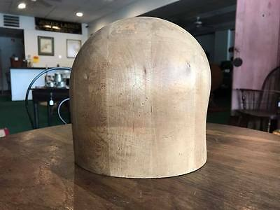 Vintage Midwest H.B. & D. Co. Wood Block Hat Mold Millinary Form Size 22 1/2