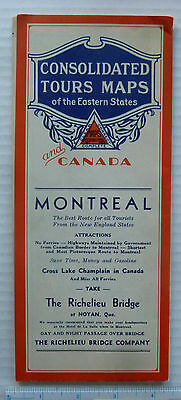 Montreal, Quebec, Canada &  N.e. U.s.a.  -  Tour  Map 1920's - 1930's?