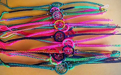 Lot 100 Dream Catcher Friendship Bracelets Handmade In Peru