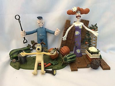 Wallace And Gromit 2005 Mcfarland Figures Lot Rare Set Curse Of Were Rabbit