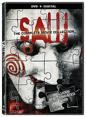 SAW The Complete Movie Collection 1 2 3 4 5 6 7 Series NEW DVD 4 Discs Box Set