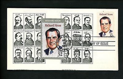 Ranto Cachet US FDC #2955 on 2216-19 Richard Nixon President w/ Cut-Out 1995