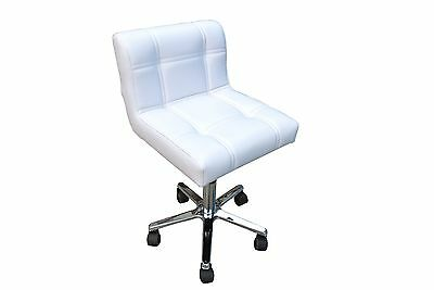 Hydraulic Chair for Salon/Medical Clinic - White Upholstery