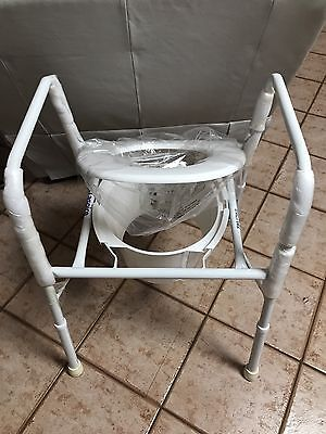 Disabled Toilet Chair, White, Never Used.