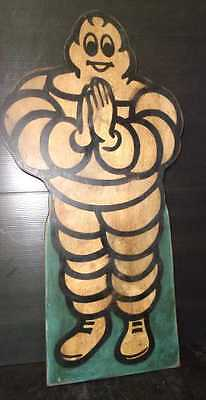 Rare Hand Painted Sawadi (Welcome) Thailand Michelin Tires Wooden Sign