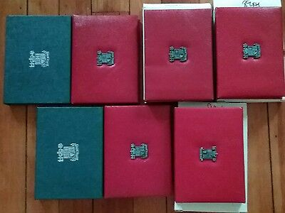 GREAT BRITAIN UK 7 Proof Set Lot 1984 1985 1986 1987 1988 1989 1990 Luxury Cases