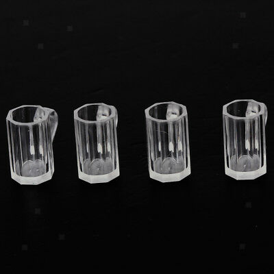 4pcs Beer Mags Cups for 1:12 Dolls House Miniature Kitchen Pub Bar Acc Decor