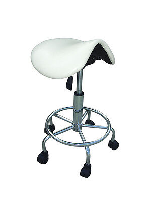Ergonomic Saddle Chair With Foot Rest - White AUS Seller