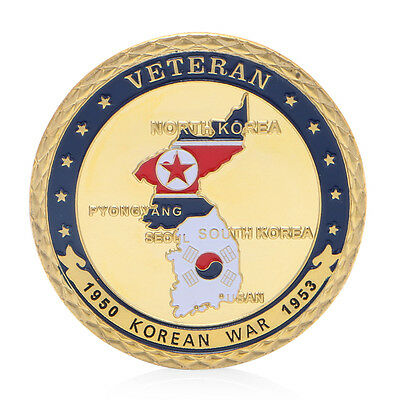 1950-1953 Korean War Veteran Commemorative Challenge Coins Souvenir Collection