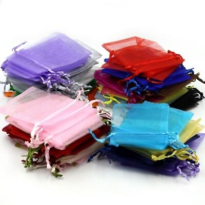 Organza Bags, Wedding Favours, Jewellery Pouch, Gift Bag, 25-100pcs, 17 colours