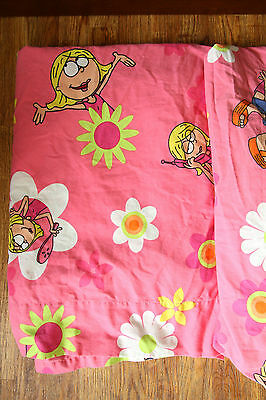 Lizzie McGuire Bed Sheets Flat & Fitted Twin Size Disney Channel Rare