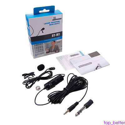 Lavalier Microphone Audio for Boya BY-M1 phone Canon Nikon Sony DSLR EOS Camera