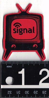 SIGNAL SNOWBOARDS STICKER Signal Snowboards Television Decal