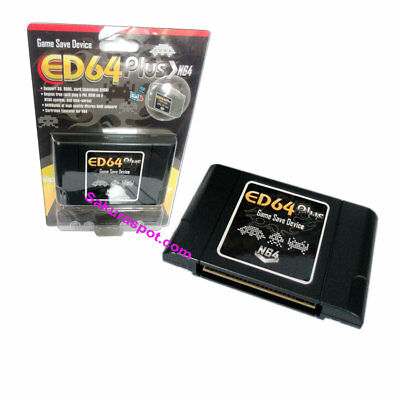 PAL/NTSC ED64 Plus Game Save Device Cartridge 8G TF Cart Adapter for N64 Games