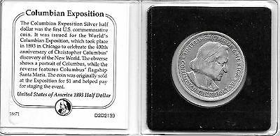 Usa  1893  Columbian Exposition Silver Half Dollar Coin