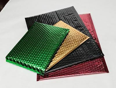 Metallic Glamour Bubble Mailers Padded Envelopes Bags in Assorted Size & Color