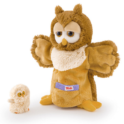 Trudi : Mummy and Baby Owl Puppets