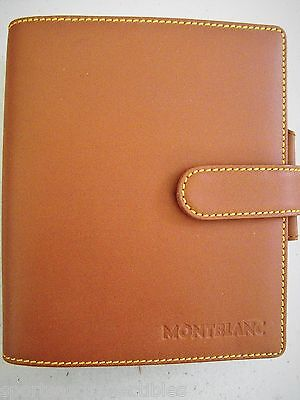 MONTBLANC SMALL ORGANIZER 9503 MEDIUM BROWN LEATHER BRAND NEW OLD STOCK w BOX