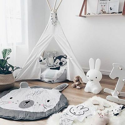 Rabbit Playing Crawl Gym Rug/Mat Newborn Baby Kids Shower Gifts Blanket Hot Sale
