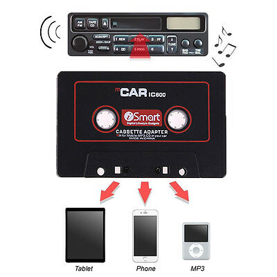 Audio AUX 3.5mm Car Cassette Tape Adapter Converter for iPhone Android MP3 iPod~