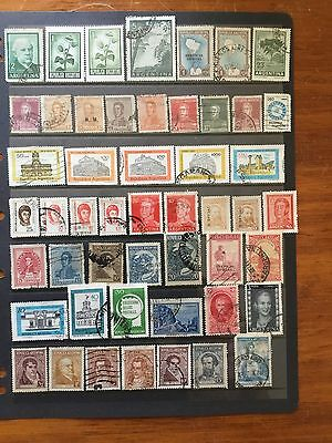 50 Stamps From ARGENTINA USED