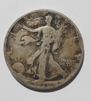 1929-S Walking Liberty Half Dollar Circulated Silver Half Beater Date!
