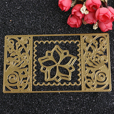 Flower Rectsangle Frame Metal DIY Cutting Dies Card Paper Embossing Stencil