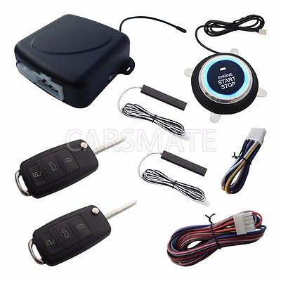 New PKE Car Alarm System With HAA Flip Key Remote Control Remote Start Stop Car