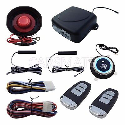 Smart Key RFID PKE Car Alarm System Passive Keyless Entry Remote Engine Start