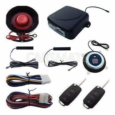 Smart PKE Car Alarm System Remote Start Passive Keyless Entry With HAA Flip Key