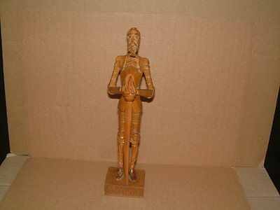 Vintage Wooden Hand Carved Ouro Artesania Don Quixote Figure - Treen