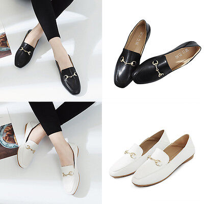 Women Pointed Toe Low Heel Slip On Loafers Moccasin Office Work Single Shoes