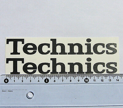 2 x Technics 1200 1210 decal stickers for 2 turntables - Graphite Gray BRUSHED