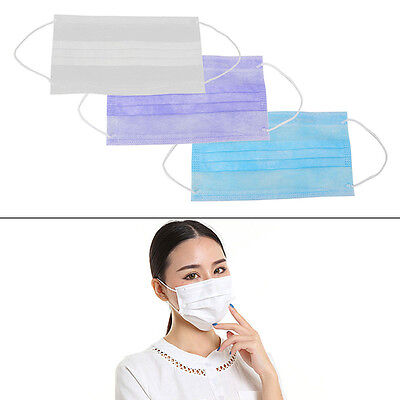 30/50/100Pcs Dental Disposable Medical Dust Mouth Surgical Face Mask Respirator