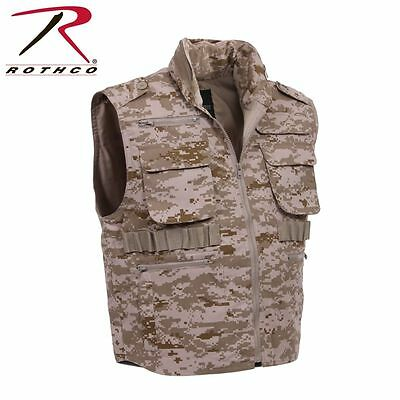 Rothco Tactical Hunting Fishing Camouflage Ranger Vest With Hood NEW SIZE MED